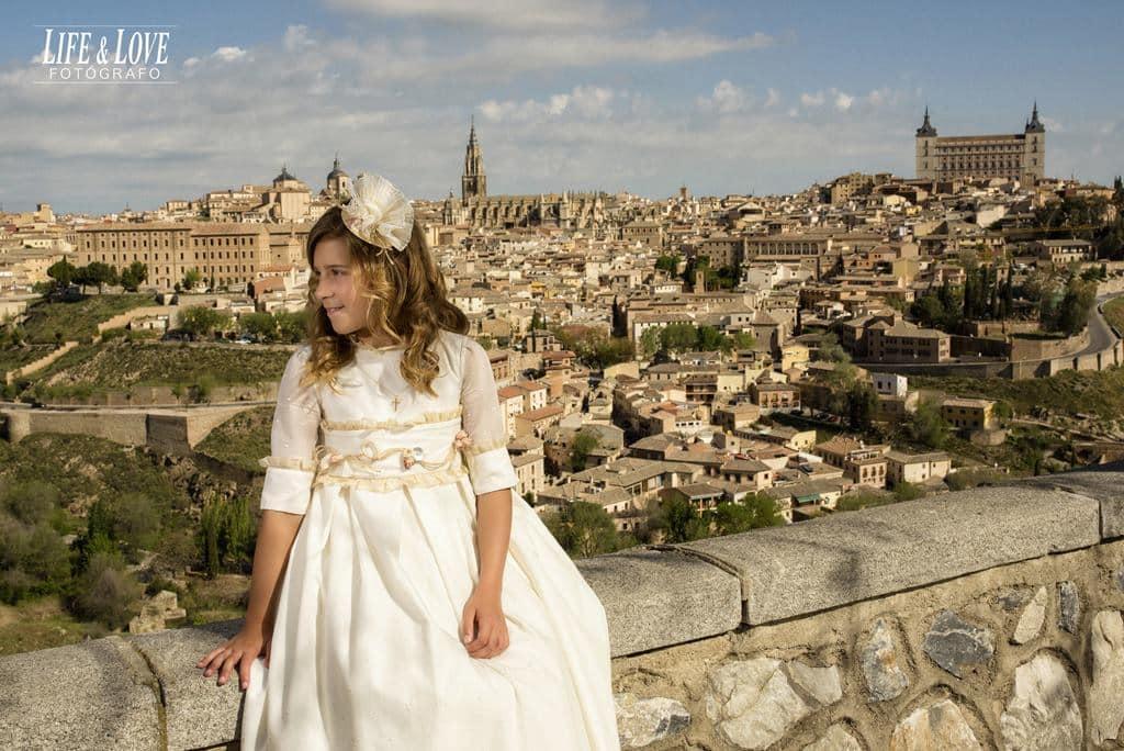 Una princesa y sus fotos de Comunión en Toledo