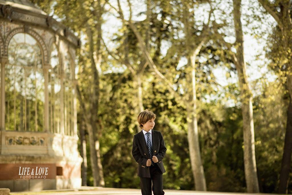 Fotos de comunión en el retiro de Madrid