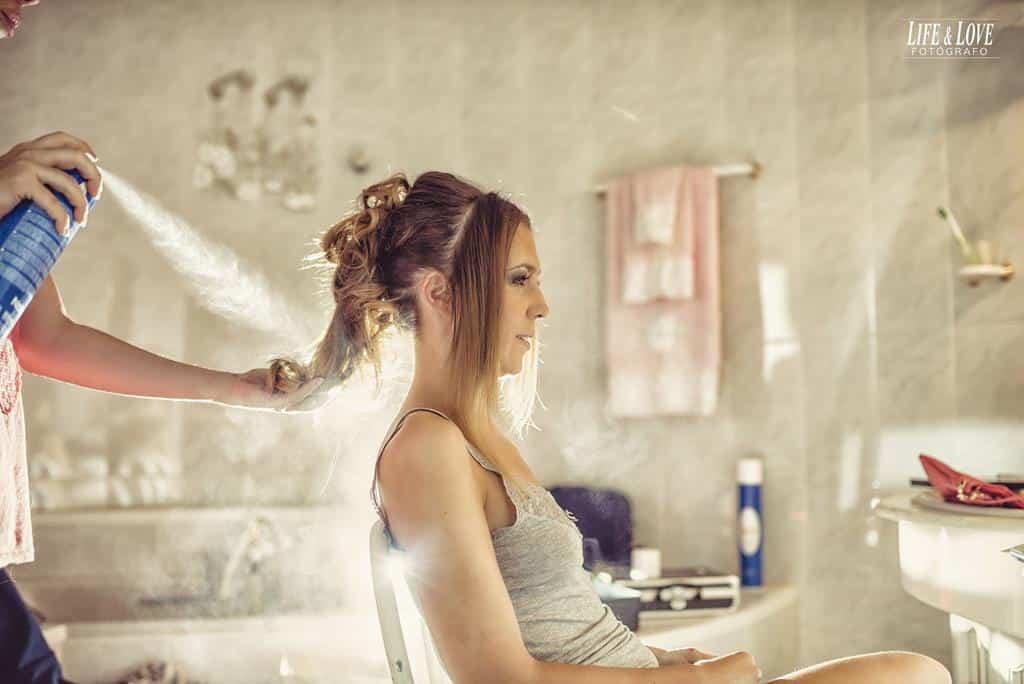 laca pelo novia