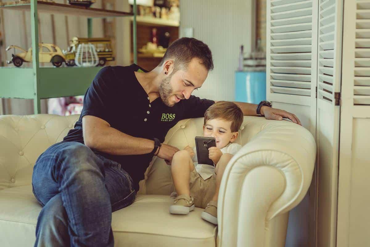 Papá con su hijo