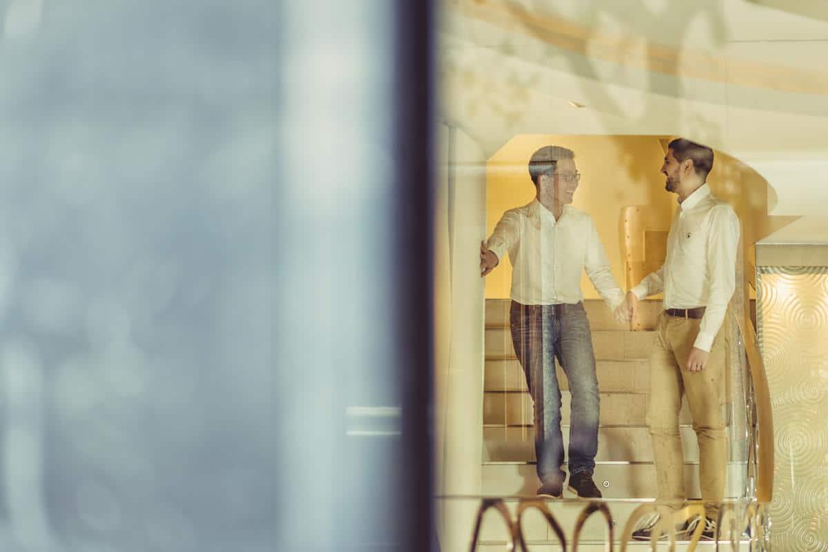 reflejos en el hotel