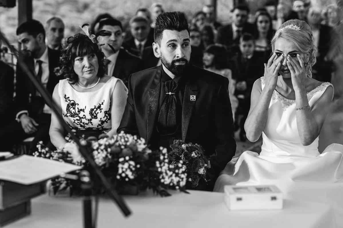 novia llora