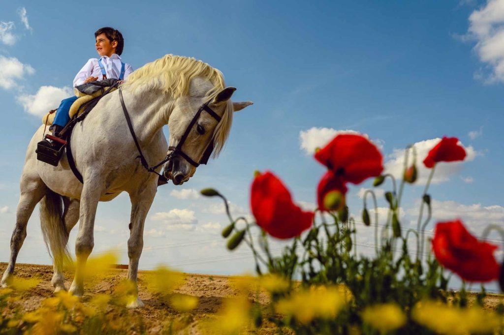 PRIMERA COMUNIÓN niño en caballo