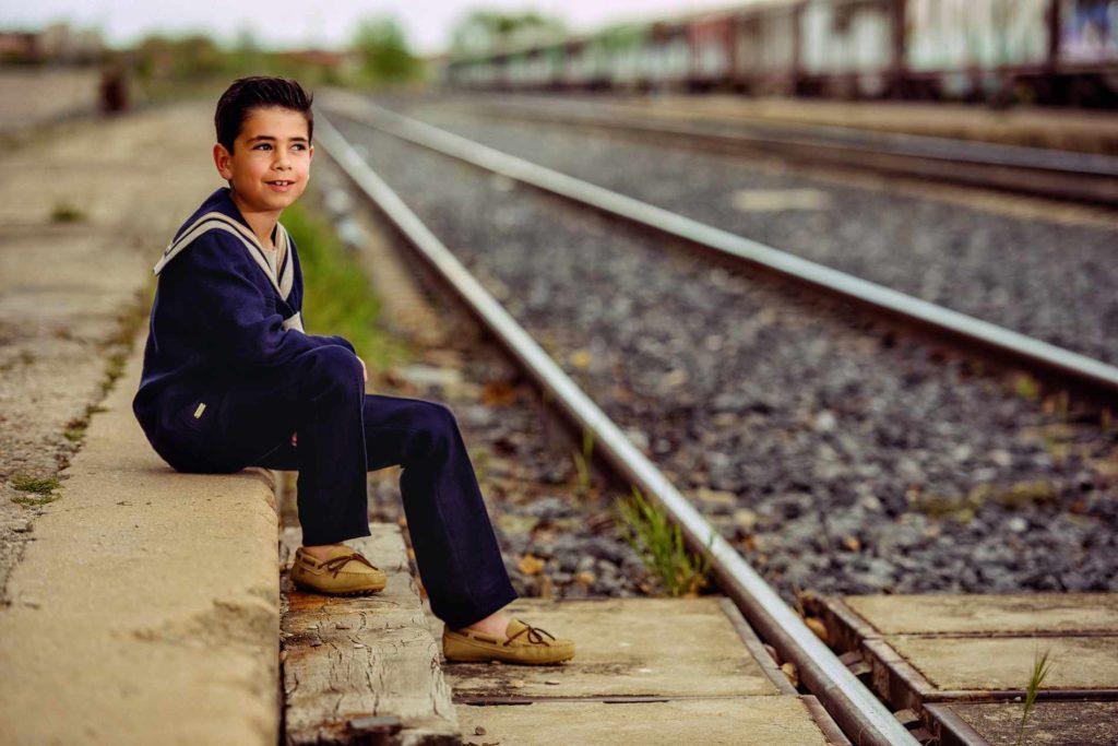 Comunión foto vías del tren