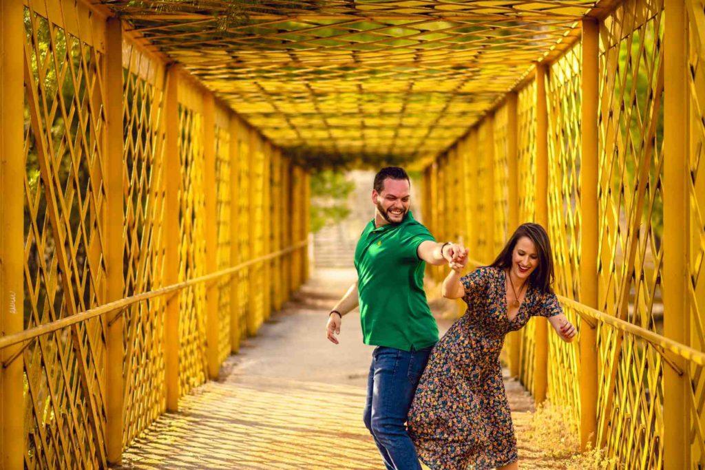 prebodas en Toledo puente amarillo
