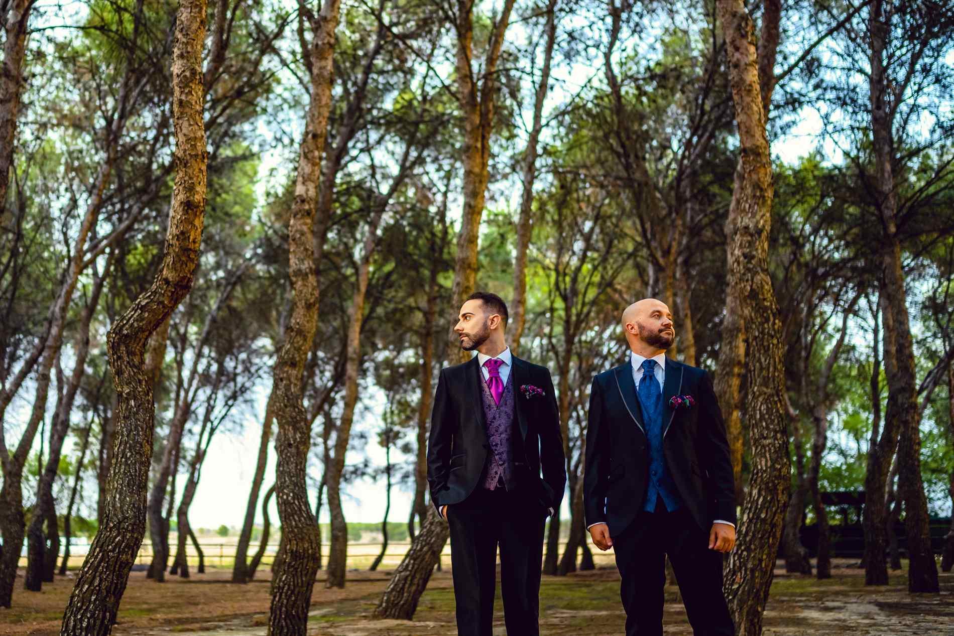 pareja LGTB en su boda