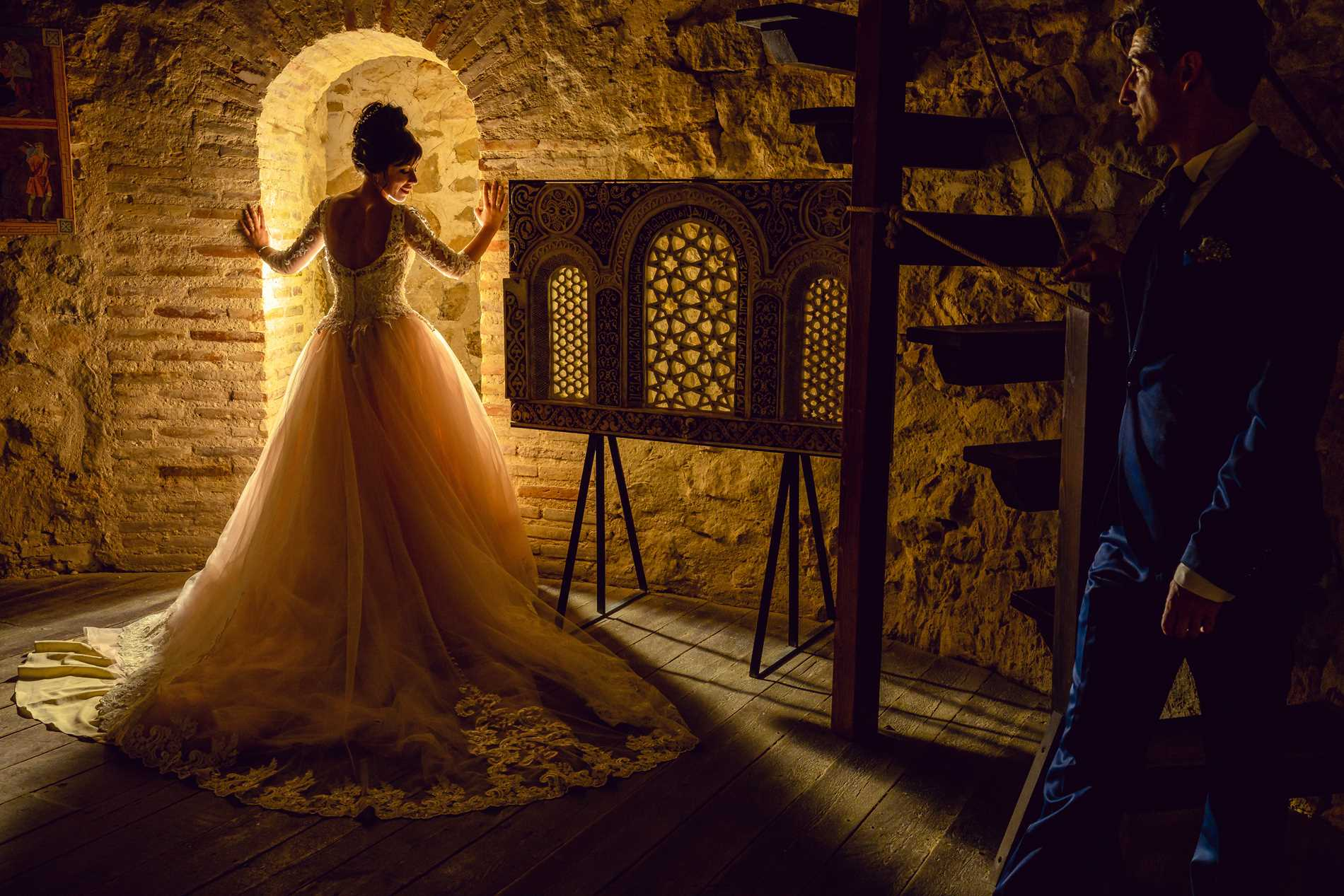 Fotos boda los Molinos de Consuegra - interior castillo