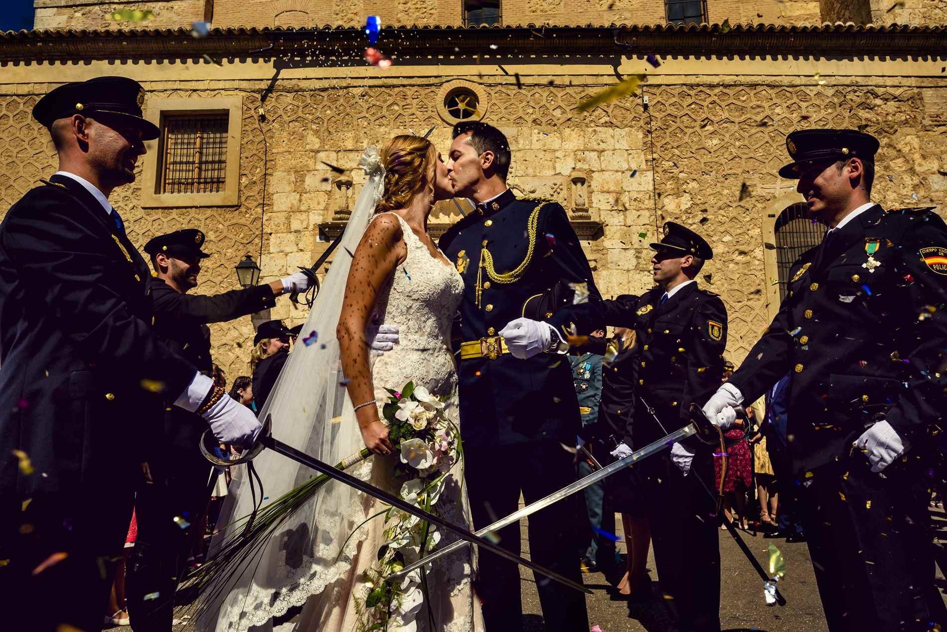 pasillo de sables - Fotógrafo de bodas Militares