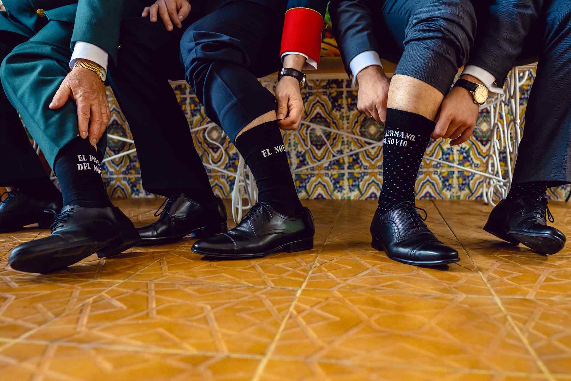calcetines de boda