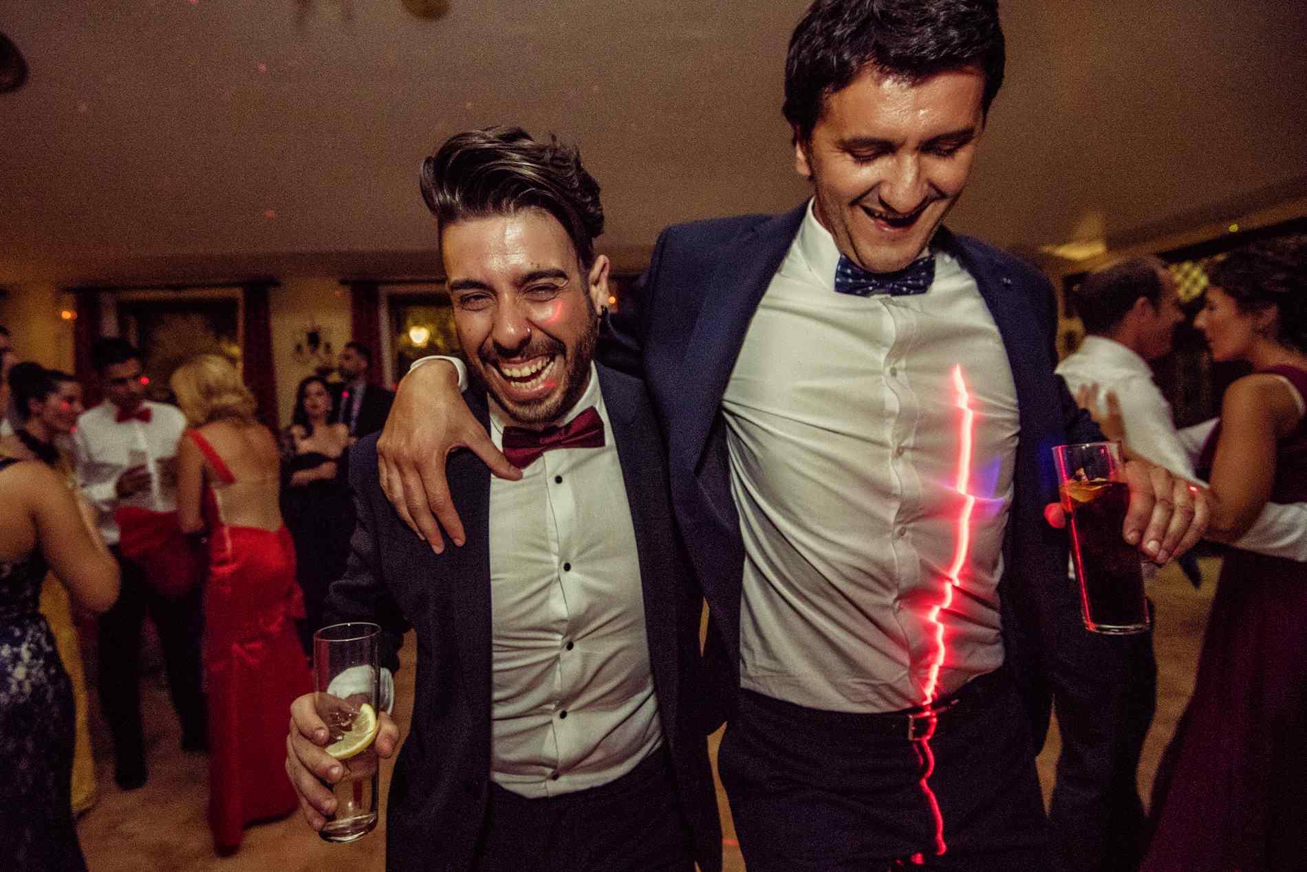 fiesta en al boda