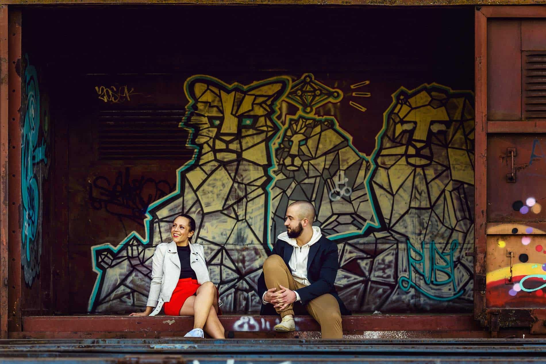 Fotógrafo de Preboda en Aranjuez - estación de tren