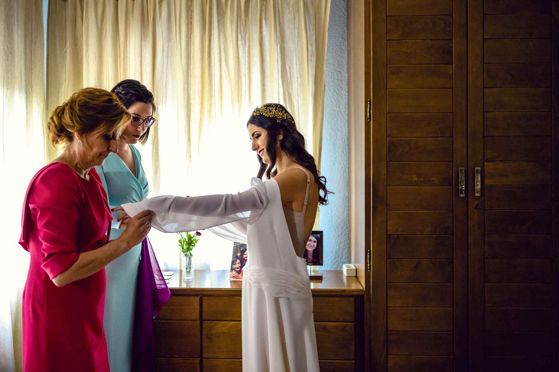 preparativos de la novia en Toledo