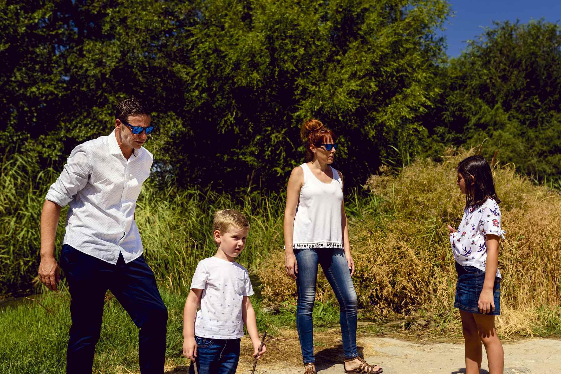fotos familia en el campo