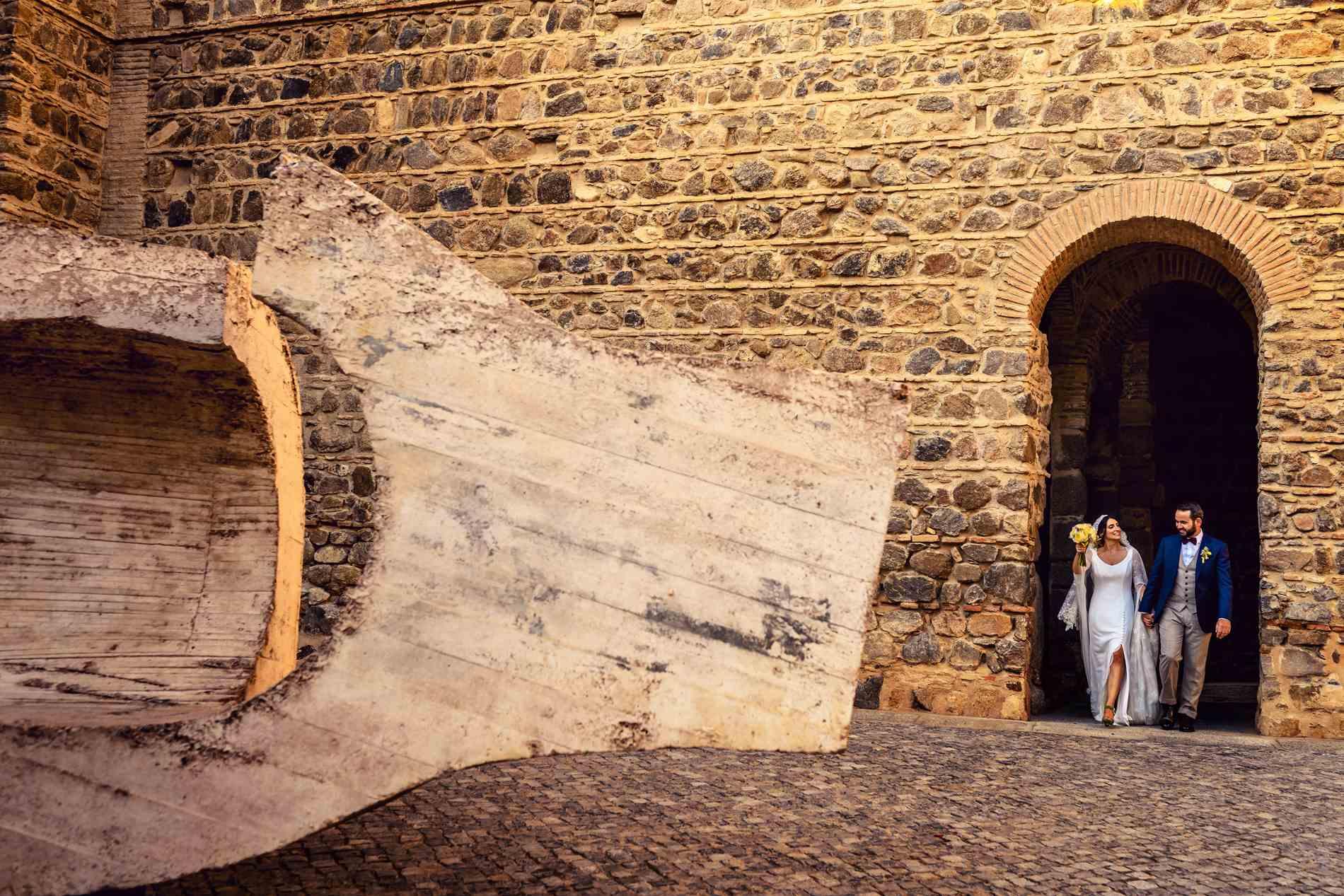 Fotos pareja de novios en Toledo
