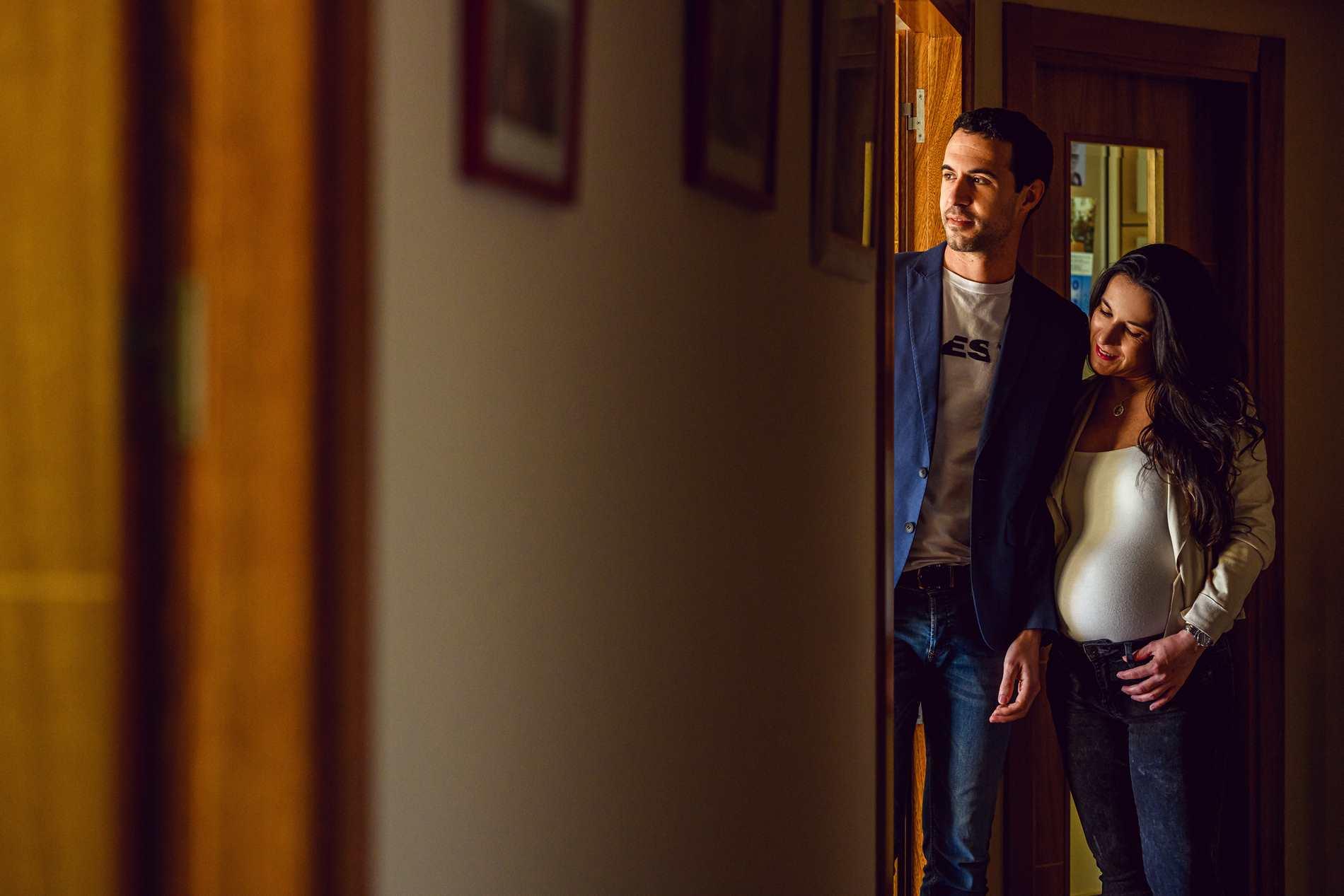 Sesión de fotos embarazada en casa ❤️