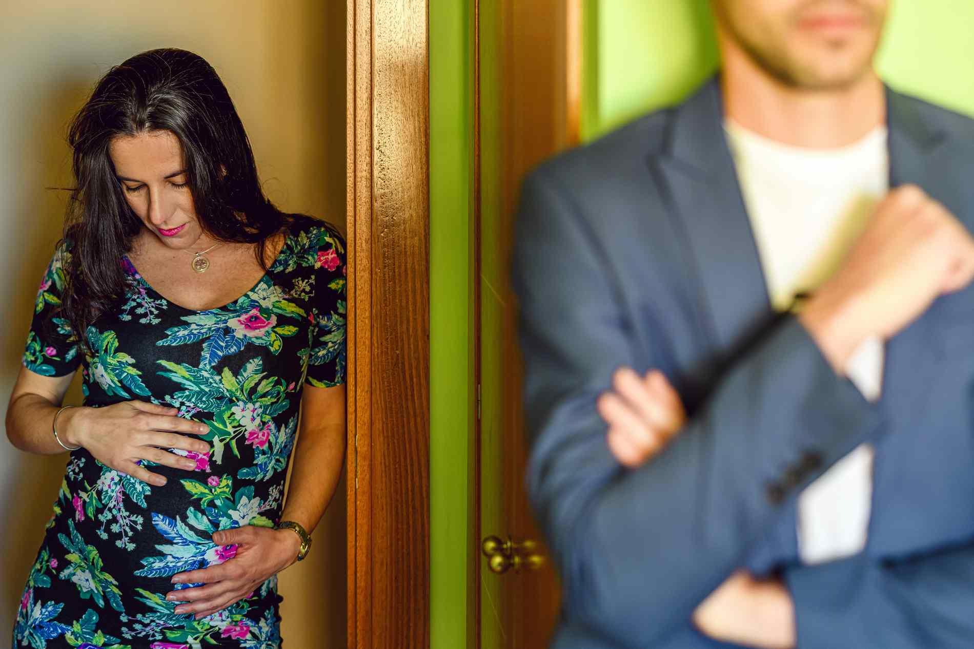 Sesión de fotos embarazo en casa