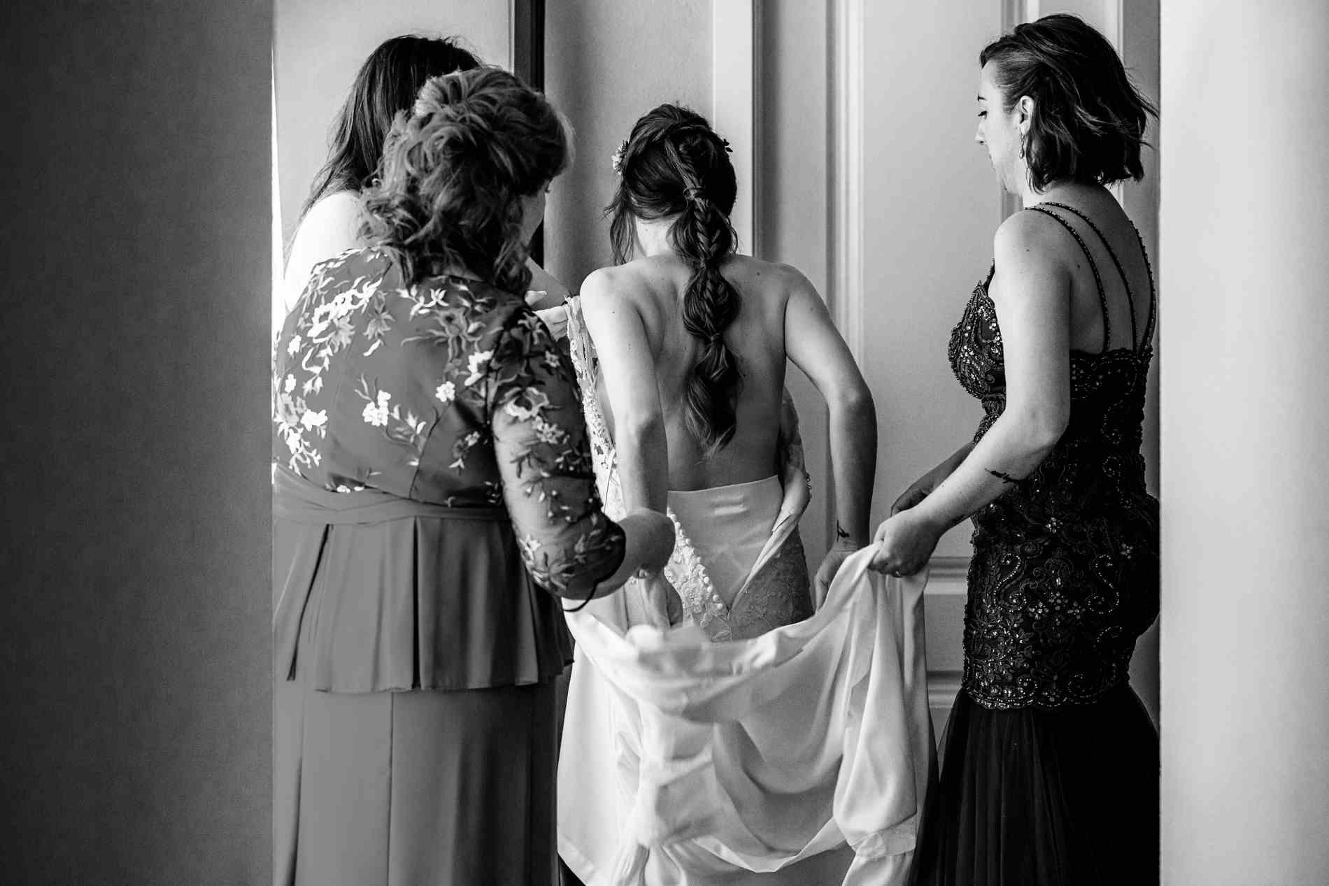preparativos y maquillaje novia