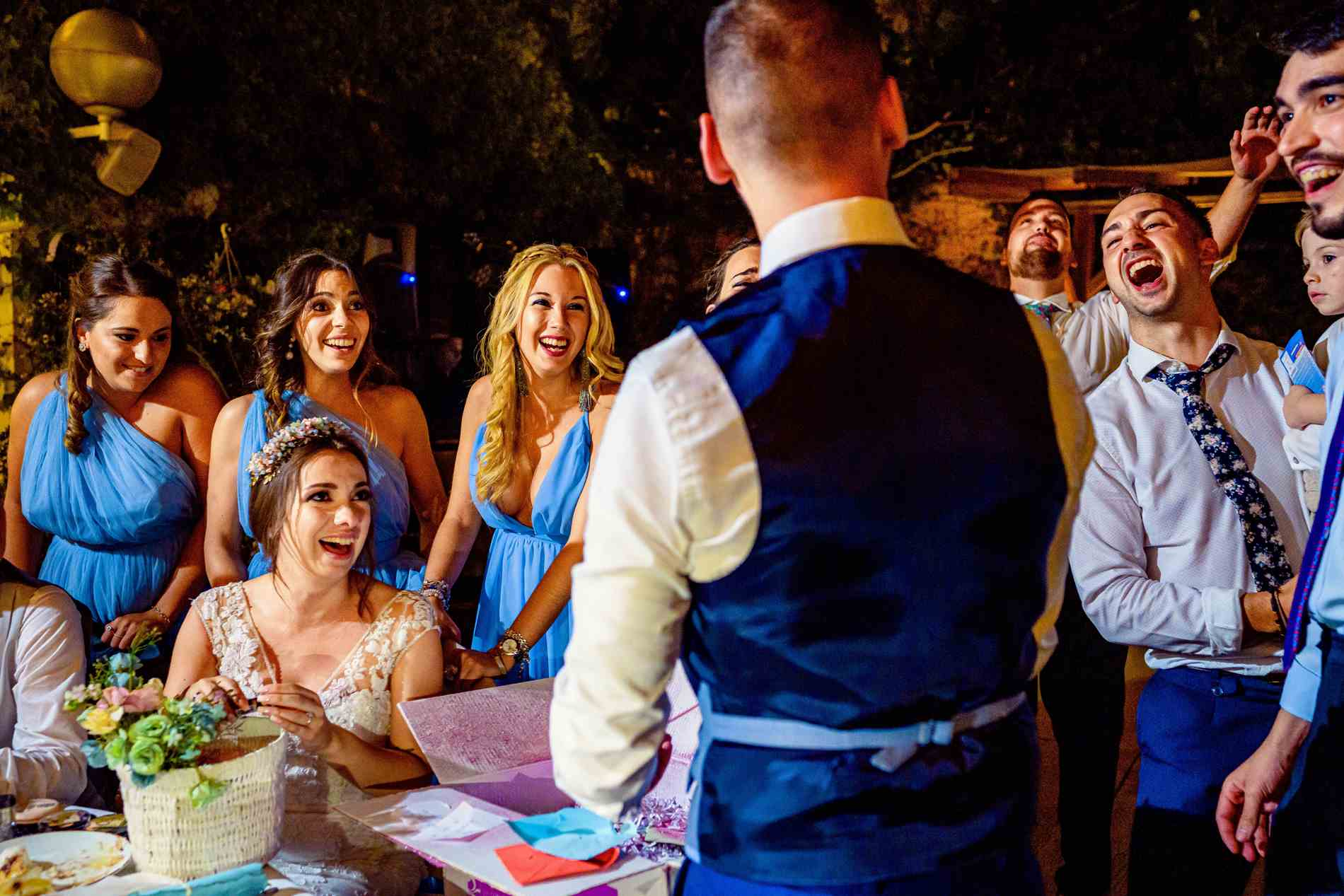 Fiesta y baile en la boda